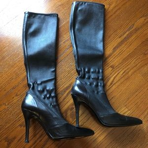 Versace vintage leather boots .